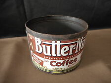 Butter-Nut Coffee Vintage Flea Mkt Country Decor empty coffee can 1 pound