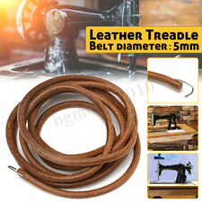 72'' Leather Treadle Belt Parts+Hook For Singer Sewing Machine 3/16'' Dia Hot