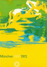 Germany Olympic Games Munich 1972 Olympic postcard Equestrian 111 small text