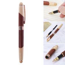 Luxury Wood Calligraphy Art Fountain Pen Medium Nib Office Writing Business Gift