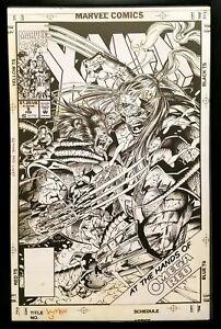 X-Men #5 Wolverine by Jim Lee 11x17 FRAMED Original Art Poster Marvel Comics