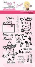 MPS - My Pink Stamper Stamp Set - MOO-EY DOODLE - Retired Images