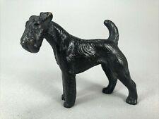 Antique Vienna Austrian Bronze Figurine Of An Airedale Terrier Dog, Gorgeous!