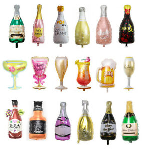 3PCS Foil Wine Bottle Cup Balloon Decoration For Festival Birthday