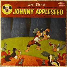 Johnny Appleseed Walt Disney 45 & Cover Mickey Mouse Club Buddy Ebsen Children