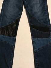 Boutique BLANKNYC GIRLS 14 Vegan Faux Leather Patch SKINNY Denim JEANS  D003E