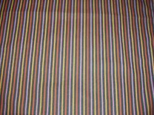 "Stripes On Black Fabric Cut Of 100% Cotton Halloween Fabric 1-Yd  X 42"" Wide"