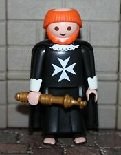"Playmobil Black Malteser "" Monk "" Crusader"