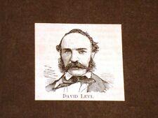 Onorevole David Levi Chieri, 6 novembre 1816 – Torino, 24 ottobre 1898