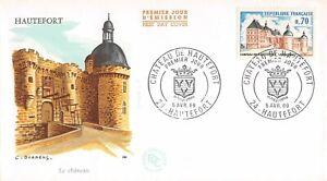 Enveloppe FDC FRANCE CHATEAU DE HAUTEFORT 1969 HAUTEFORT