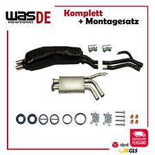 Auspuffanlage Auspuff ab Kat BMW 5er (E34) 525 i Chrom Endrohre