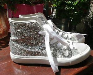 Bogner Damenschuhe Sneaker, Silber Glitzer, Gr. DE38, UK5 selten cool