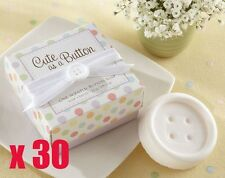 30 x Cute As A Button Scented Soap - Baby Christening / Baby Shower Party Gift