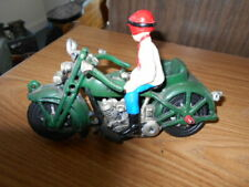 Vintage cast iron motorcycle Side Car And Man