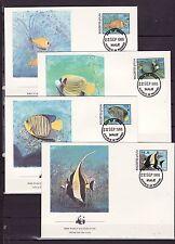 Maldives 1986 - FDC - Vissen/Fish/Fische (WWF / WNF)