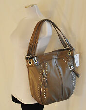 NWT CHIC KATHY VAN ZEELAND Studded Shoulder Hand Bag Shopper Tote Purse L