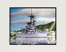 """USS Missouri, Pearl Harbor, Hawaii"" 11x14 Print by watercolor artist Garry Palm"