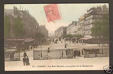 PARIS (VIII) LA RUE ROYALE , Attelages animés en 1906