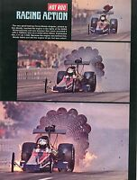 1972 Great Pic of Cerny-Moody Top Fuel Dragster Engine Exploding Winternationals