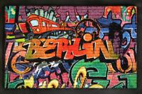Berlin Graffiti - Fußmatte, Größe: 60 x 40 cm, Material Polypropylen