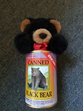 Canned Black Bear Mini Stuffed Animal Made in U.S Grizzly Productions