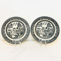 """2 Midnight Willow by Churchill Coupe Soup Bowls 8"""" for World Market"""