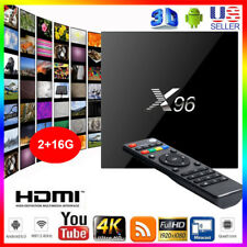 X96 S905 DDR4 2+16G Android 6.0 4K 3D HDMI Quad Core Smart TV BOX WIFI PC da