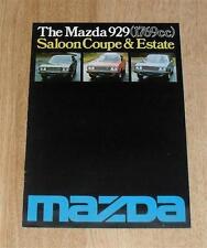 Mazda 929 Brochure 1977 - Saloon Coupe Estate