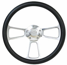 Chevrolet Steering Wheel + Adapter Kit for GM, Ididit Column Polished Billet