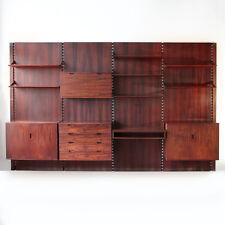 Libreria Modulare progettata da Raffaella Crespi anni '60 palissandro, wall unit