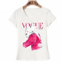 Women T-Shirt Vintage Spring Fashion Short Sleeves Shirts 2018 Cotton Shirt New
