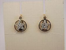 ORECCHINI STELLA ORO VINTAGE OLD STYLE ORO DIAMANTI EARRINGS GOLD DIAMONDS