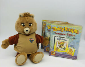 Vintage Teddy Ruxpin Talking Bear cartridges & books lot Bear Tested Works 2006
