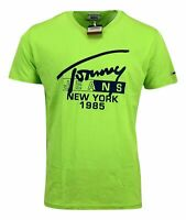 Tommy Hilfiger Men's Crew Neck Cotton NY T-shirt - Regular Fit - Light Green