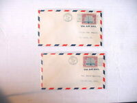 1928 COVERS US Air Mail FIRST FLIGHT Chicago Chattanooga & St. Louis + VERY FINE