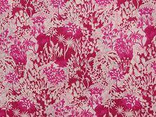 "LIBERTY ART FABRICS ""PAPER GARDEN"" PER HALF METRE 50cm tana lawn cotton PINK"