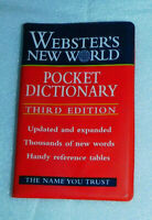 Websters New World Pocket Dictionary PB 1997 Homeschool Classroom Reference Book