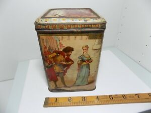 W.R Jacob Dublin Faust Biscuit TIn C1890s