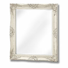 ANTIQUE WHITE FRENCH VINTAGE STYLE MIRROR -  A WONDERFUL ITEM TO PUT ON THE WALL