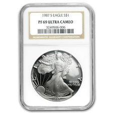 1987-S American Eagle Proof Silver Dollar NGC PF69 Ultra Cameo - 1 oz