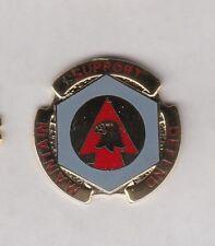 US ARMY 734th Maintenance Battalion crest DUI badge c/b clutchback G-23