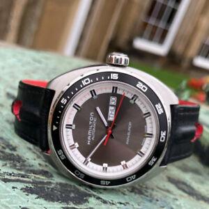 Hamilton American Classic Pan Europ Blue Automatic Wrist Watch 42mm