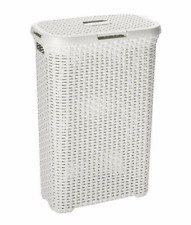 Cubo LAVANDERÍA Grande Cesta Lavado De Ropa Juguetes Accesorio de almacenamiento Cesto 60 L Blanco