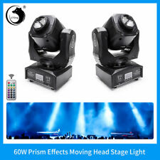 80W Rgbw Led 2Pcs Moving Head Stage Lighting Prism Beam Fixture Party Dj Disco