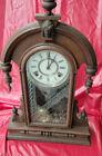 William Gilbert 5 Finial Walnut Parlor Clock--Circa 1875