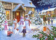 La House of Puzzles-Puzzle 1000 Pezzi-Famiglia di neve