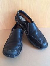 Born Loafers~7~Black~Leather~Women's~