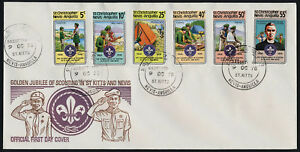 St Christopher Nevis Anguilla 370-5 on FDC - Scouts