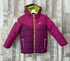 Regatta Girls Pink Padded Puffer Jacket Coat Age 7/8 Years