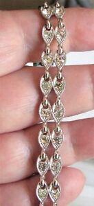 Bogoff Art Deco Style Rhinestone Bracelet